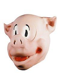 Comicschwein Maske aus Schaumlatex