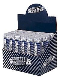 Confetti cannon silver glitter