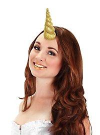Corne de licorne dorée