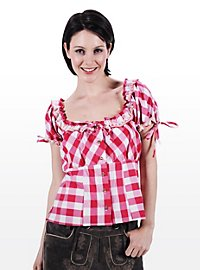 Corsage bavarois Femme rose et blanc