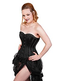 Corset black with Rhinestones