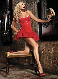 Corset with Garters red