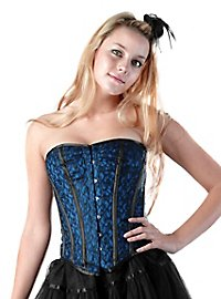 Corset with Lace royal blue