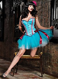 Corset with Satin Bows hot pink-turquoise