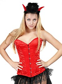 Corset with Shirring red