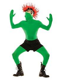 Costume intégral zentai vert