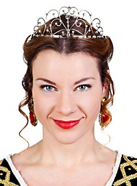 Countess Tiara silver with Rhinestones