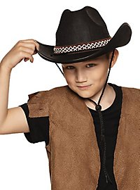 Cowboy hat for children black