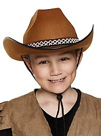 Cowboy hat for children brown