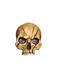 Crâne décoratif abîmé en résine (petit)