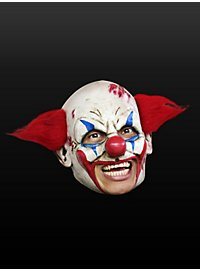 Crazed Clown Chinless Mask Made of Latex