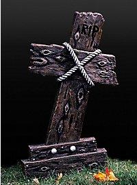 Croix tombale RIP aspect bois