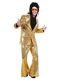 Crooner Sequined Suit gold  Costume