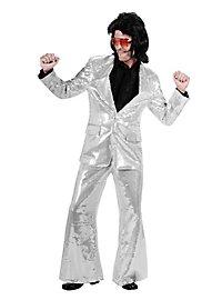 Crooner Sequined Suit silver Costume