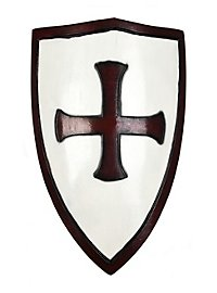 Crusader Shield white & red