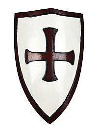 Crusader Shield white & red