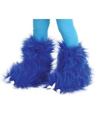 Cuddly monster boot tops blue