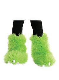 Cuddly monster boot tops green