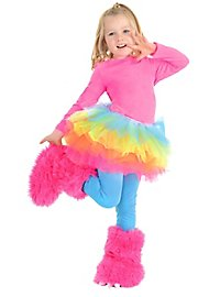Cuddly monster boot tops pink