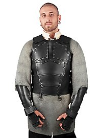 Cuirasse en cuir - Mercenaire (noire)
