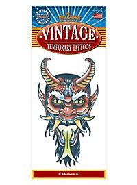 Dämon Vintage Klebe-Tattoo
