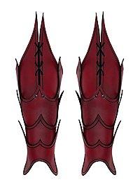 Beinschienen - Dämon rot