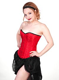 Damask Corset Peacock Feather red