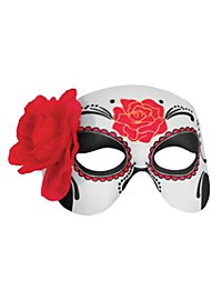 Day of the Dead half-mask rose