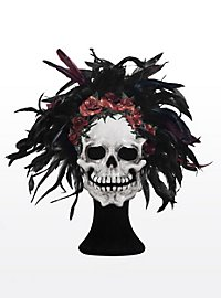 Day of the Dead Leather Half Mask