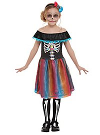 Day of the Dead Neon costume for girls