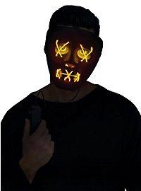Dead Eyes Leuchtmaske gelb