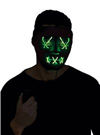 Dead Eyes Leuchtmaske grün