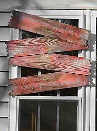 Décoration d'Halloween Fenêtre barricadée ensanglantée