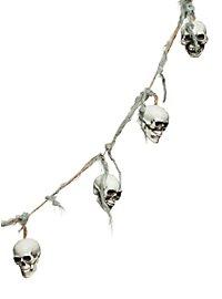 Décoration d'Halloween guirlande de crânes