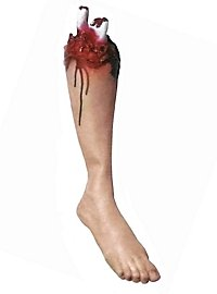 Décoration d'Halloween Jambe tranchée sanglante