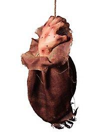 Décoration d'Halloween Main ensanglantée dans un sac