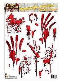 Décoration d'Halloween pour la salle de bain Autocollant bain de sang