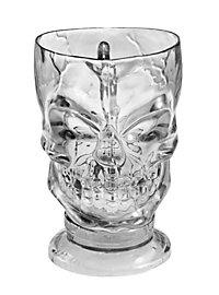Décoration d'Halloween Verre en forme de crâne