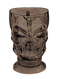Décoration d'Halloween Verre marron en forme de crâne