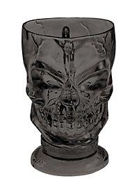 Décoration d'Halloween Verre noir en forme de crâne