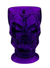 Décoration d'Halloween Verre violet en forme de crâne