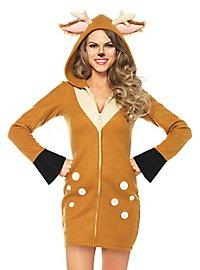 Deer hoodie dress