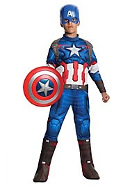 Déguisement Captain America musclé pour enfant