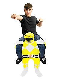 Déguisement Carry Me Power Ranger jaune