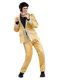 Déguisement combinaison dorée Elvis