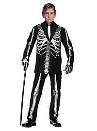 Déguisement costard de squelette pour enfant