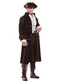 Déguisement de capitaine pirate marron
