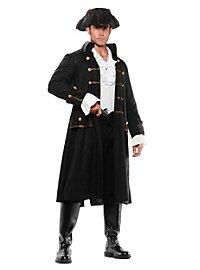 Déguisement de capitaine pirate noir