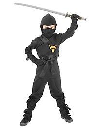 Déguisement de combattant ninja noir pour enfant
