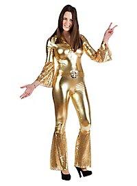 Déguisement de danseuse disco doré